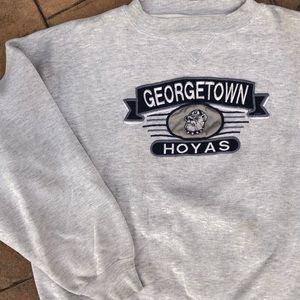 Georgetown Hoyas Vintage Crewneck Sweat Shirt